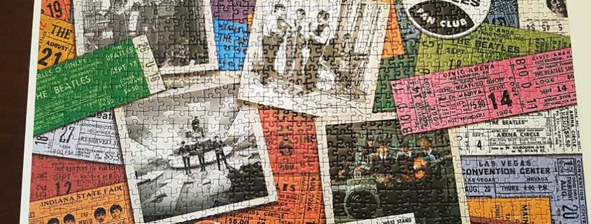 Puzzle of Beatles band